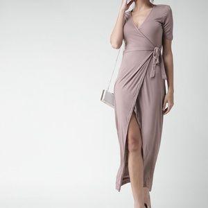 🌟 FOREVER 21 Lilac Wrap Maxi Dress